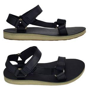 New Teva original universal leather sandals black